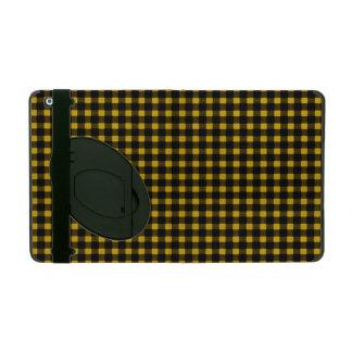 Lumberjack Print Yellow Black Winter Buffalo Plaid iPad Folio Case