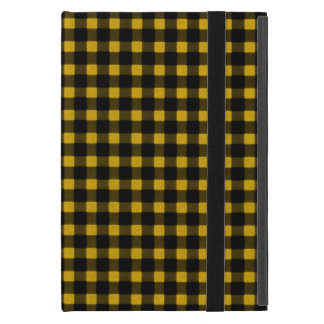 Lumberjack Print Yellow Black Winter Buffalo Plaid iPad Mini Case