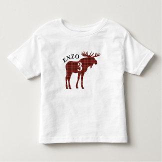 Lumberjack Red Plaid Moose Birthday Shirt