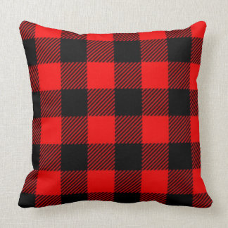 Lumberjack Style - red fabric + your ideas Throw Pillow