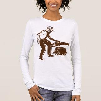 Lumberjack Tree Surgeon Arborist Chainsaw Long Sleeve T-Shirt
