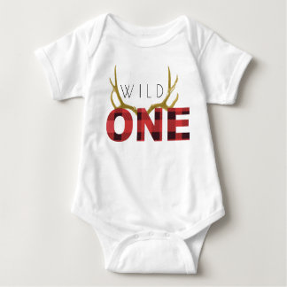 Lumberjack Wild One | First Birthday Baby Bodysuit