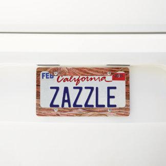 LUMBERJACK wood Licenseplate frame