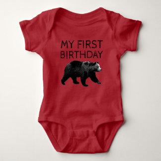 Lumberjack Woodland Bear First Birthday Shirts