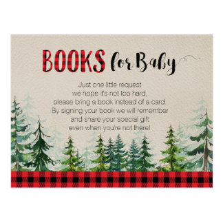 Lumberjack Woodland Forest Books for Baby Postcard