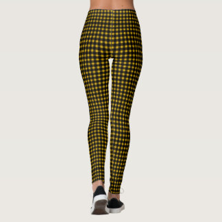 Lumberjack Yellow Black Winter Buffalo Plaid Leggings