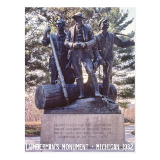 Lumberman's Monument Michigan Postcard