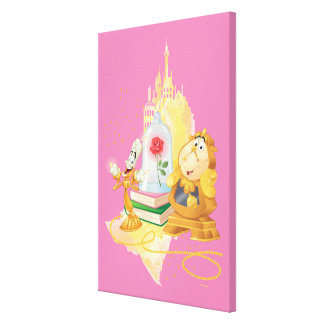 Lumière And Cogsworth Canvas Print