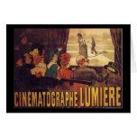 Lumière cinema poster greeting card
