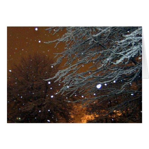 Lumière de loin cartes de vœux