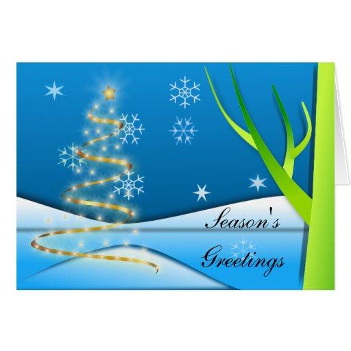 Lumière de Noël Carte De Vœux