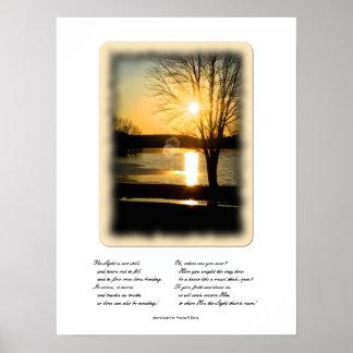 Lumière de photographie de Dieu Posters