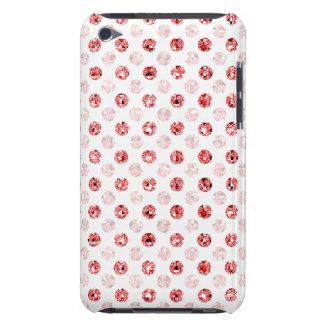 Lumière rouge de point de polka d'effet de étuis barely there iPod