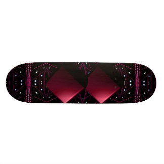 Lumières courantes de vin rouge flottant la skateboard old school  21,6 cm
