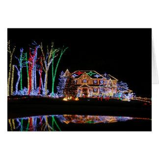 Lumières de Noël Carte