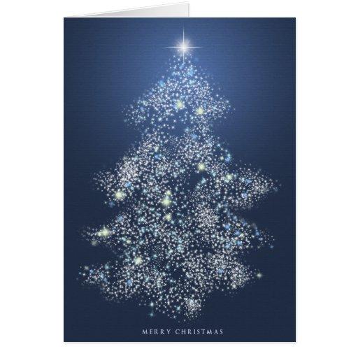 Lumières de Noël Carte De Vœux