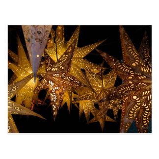 Lumières d'étoile de Noël Carte Postale