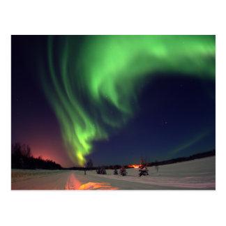 Lumières du nord au lac bear cartes postales