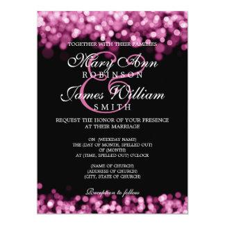 Lumières élégantes de rose de mariage carton d'invitation  16,51 cm x 22,22 cm