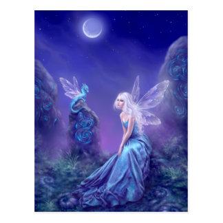 Luminescent Fairy & Dragon Art Postcard