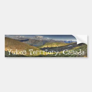 Luminescent Landscape; Yukon Territory Souvenir Bumper Sticker