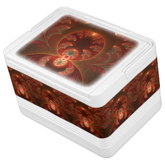 Luminous abstract modern orange red Fractal