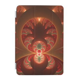 Luminous abstract modern orange red Fractal iPad Mini Cover