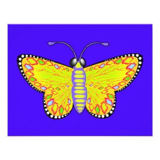 Luminous Butterfly Custom Announcements