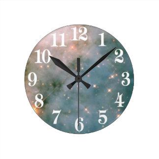 Luminous Carina Nebula Round Clock