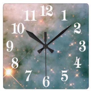 Luminous Carina Nebula Square Wall Clock