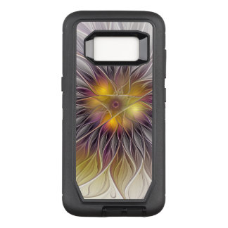 Luminous Colorful Flower, Abstract Modern Fractal OtterBox Defender Samsung Galaxy S8 Case