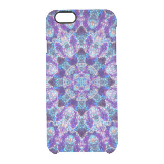 Luminous Crystal Flower Mandala Clear iPhone 6/6S Case
