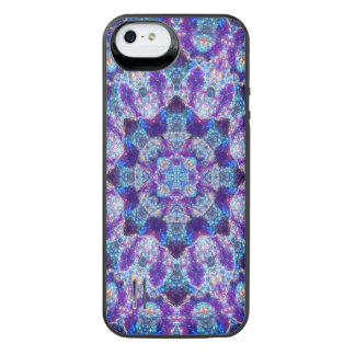 Luminous Crystal Flower Mandala iPhone SE/5/5s Battery Case