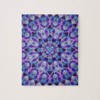 Luminous Crystal Flower Mandala Jigsaw Puzzle