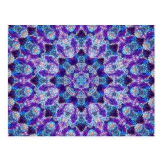 Luminous Crystal Flower Mandala Postcard