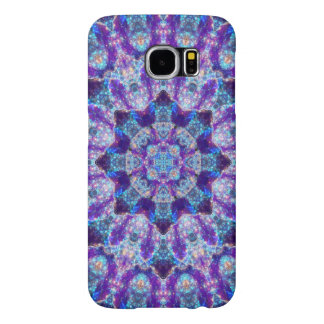 Luminous Crystal Flower Mandala Samsung Galaxy S6 Cases