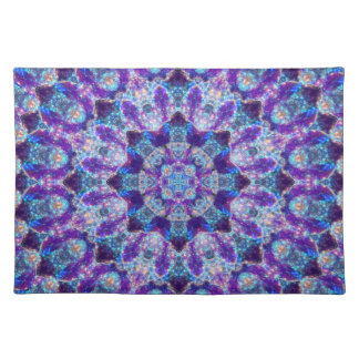 Luminous Crystal Flower Placemat