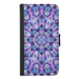 Luminous Crystal Flower Samsung Galaxy S5 Wallet Case