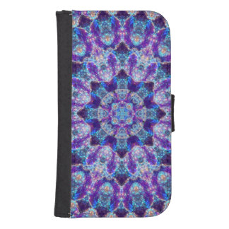 Luminous Crystal Flower Samsung S4 Wallet Case