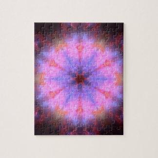 Luminous Flower Mandala Jigsaw Puzzle