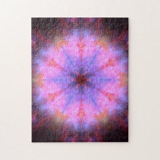 Luminous Flower Mandala Puzzle