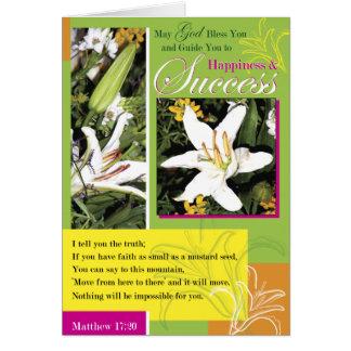 Luminous Lily Success Greeting Card