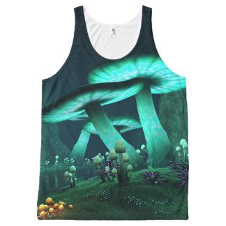 Luminous Mushrooms All-Over Print Tank Top