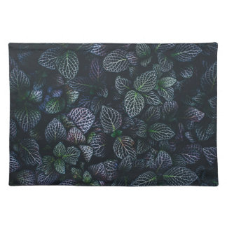 Luminous Neon Leaves Placemat