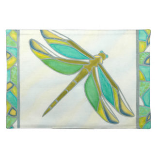 Luminous Pastel Dragonfly by Vanna Lam Placemat