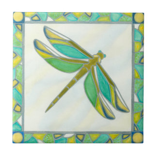 Luminous Pastel Dragonfly by Vanna Lam Tile