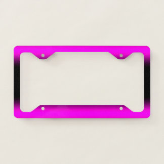 Luminous Pinkish Purple and Black Ombre License Plate Frame