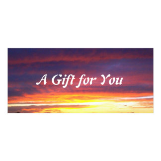 Luminous Sunset gift certificate template Rack Cards