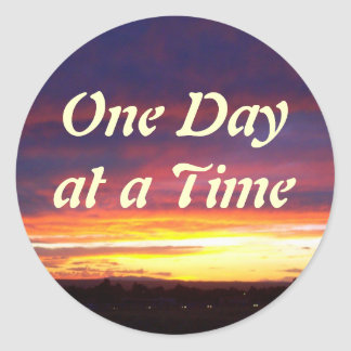 Luminous Sunset ODAT Classic Round Sticker