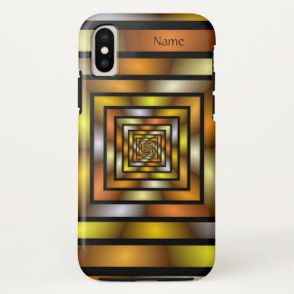 Luminous Tunnel Colorful Graphic Fractal Art Name iPhone X Case